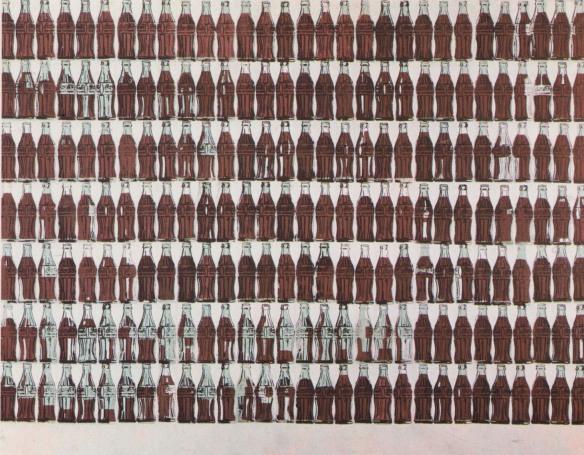 coca cola art andy warhol green coca cola bottles - Andy Warhol e sua relação com a serigrafia